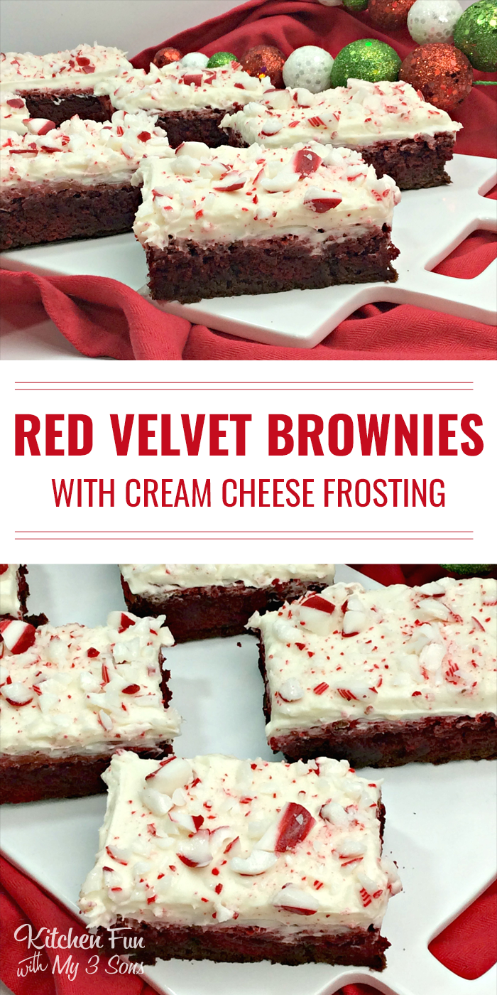Red Velvet Peppermint Brownies