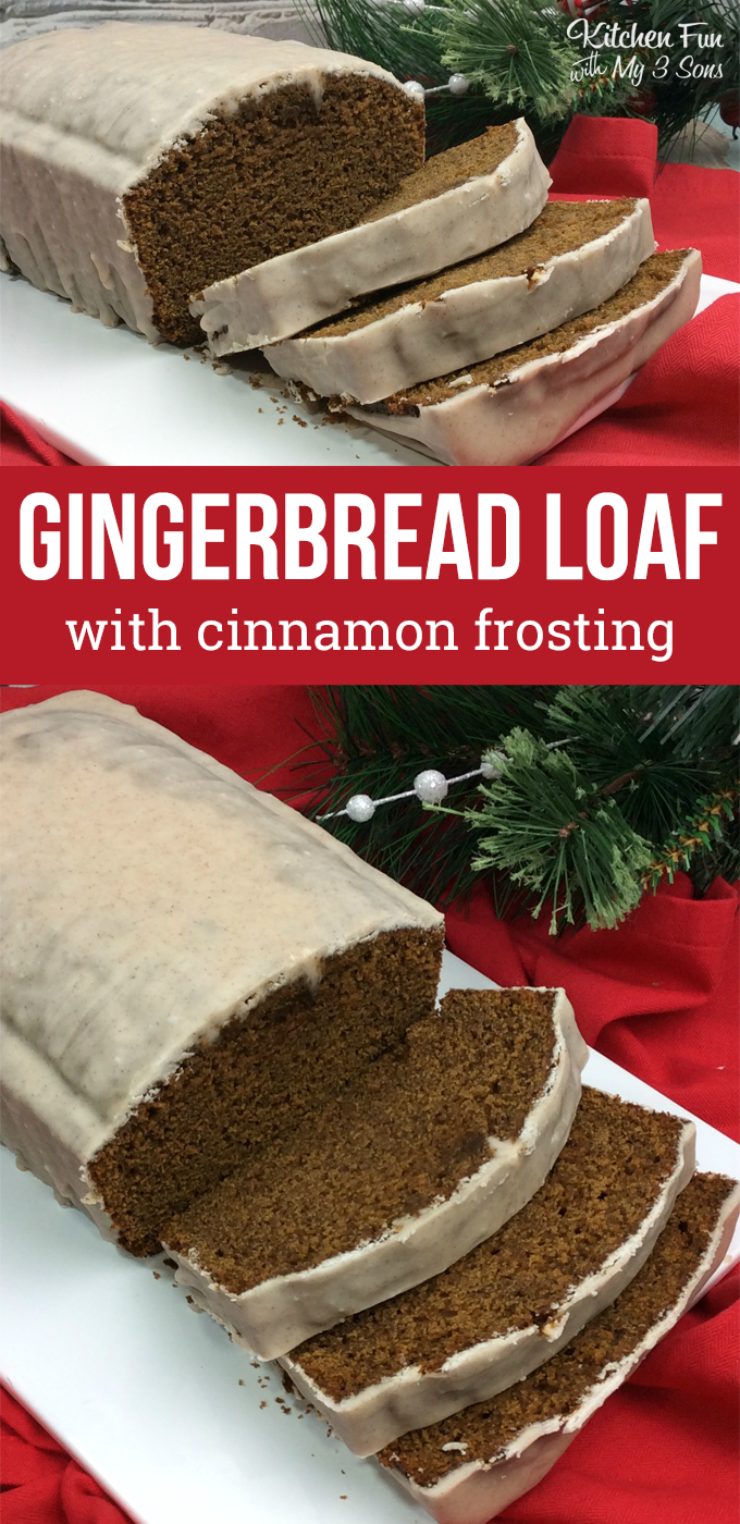 Gingerbread Loaf With Cinnamon Frosting Kitchen Fun With