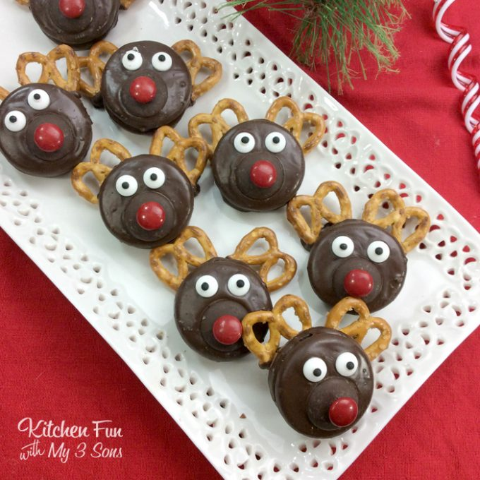 Christmas Reindeer Oreos Kitchen Fun With My 3 Sons