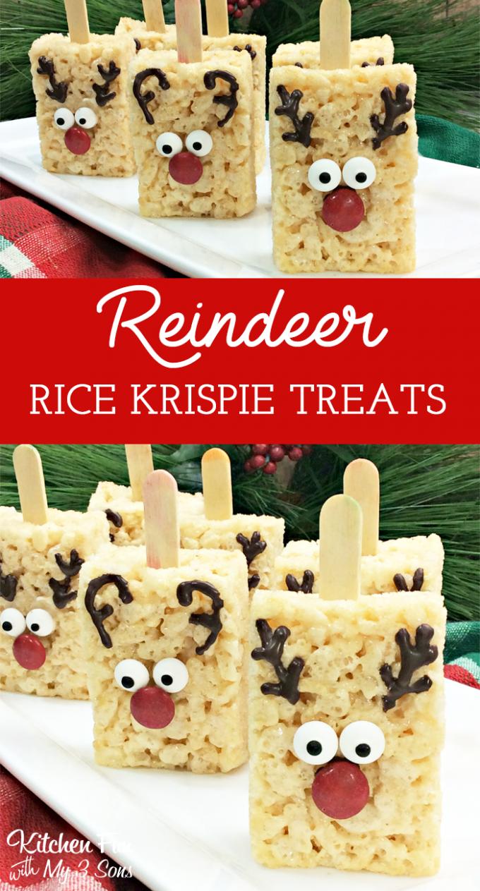 Reindeer Rice Krispie Treats Kitchen Fun With My 3 Sons