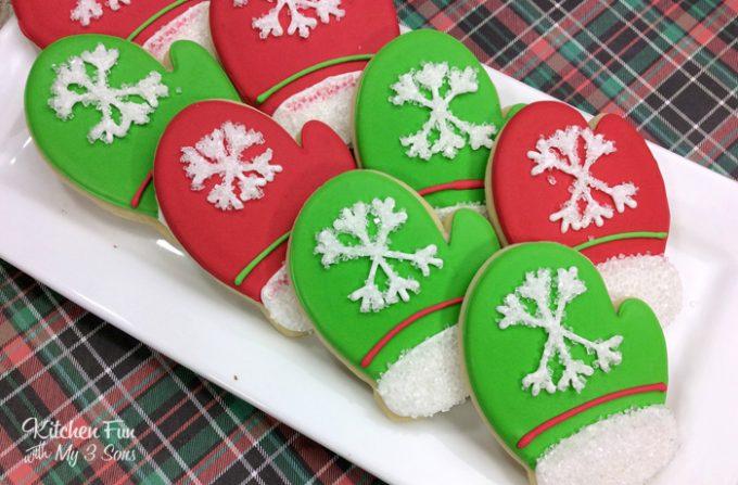 Snow Mitten Sugar Cookies
