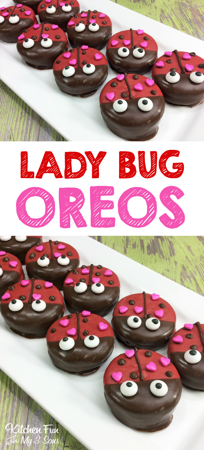 Lady Bug Oreos