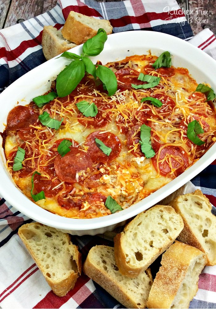 Pepperoni Pizza Dip - Kitchen Fun With My 3 Sons