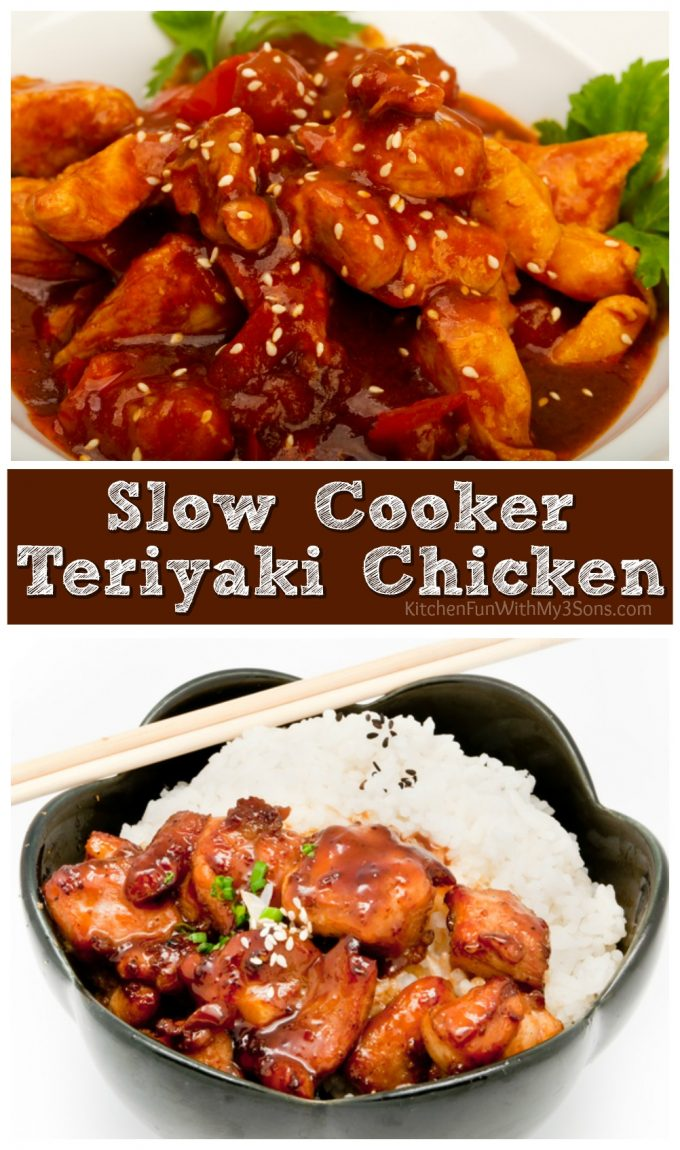 Slow Cooker Teriyaki Chicken - Kitchen Fun With My 3 Sons