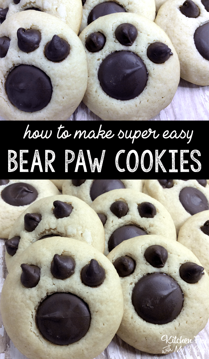 Bear Paw Cookies a Free Recipe by Jill from Kitchen Fun with my 3 Sons