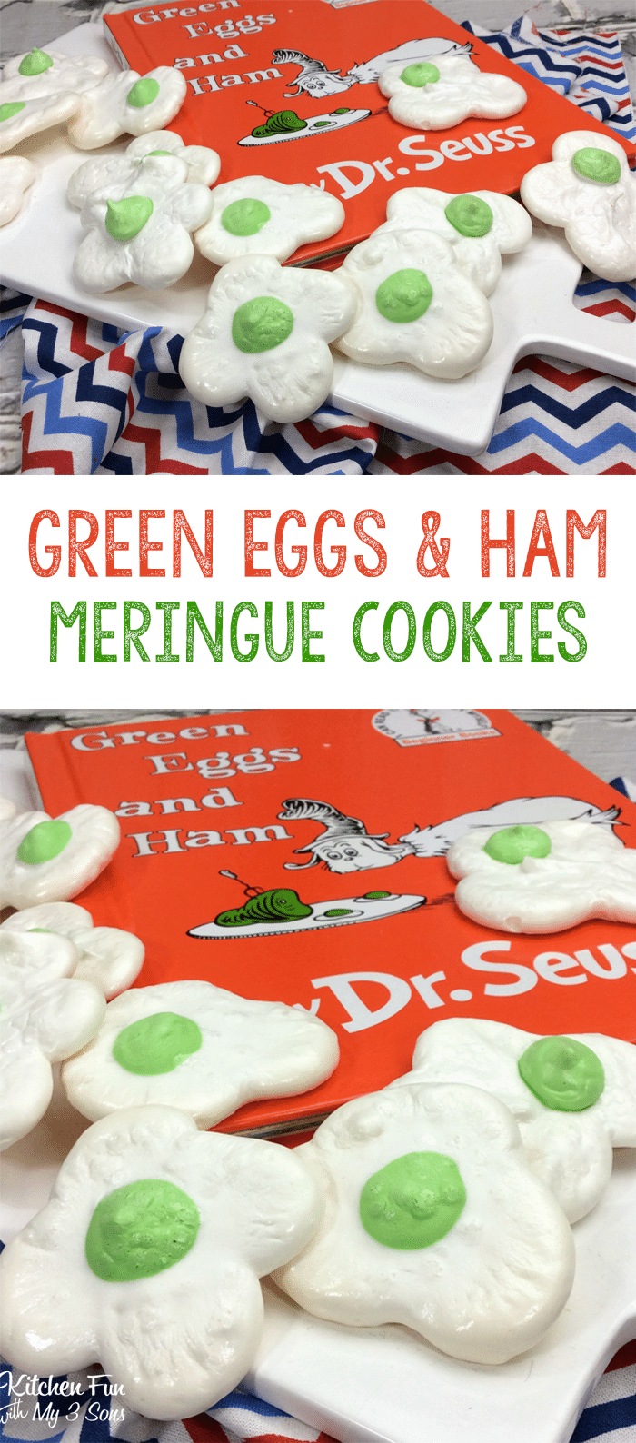 Dr Seuss Green Egg Meringue Cookies
