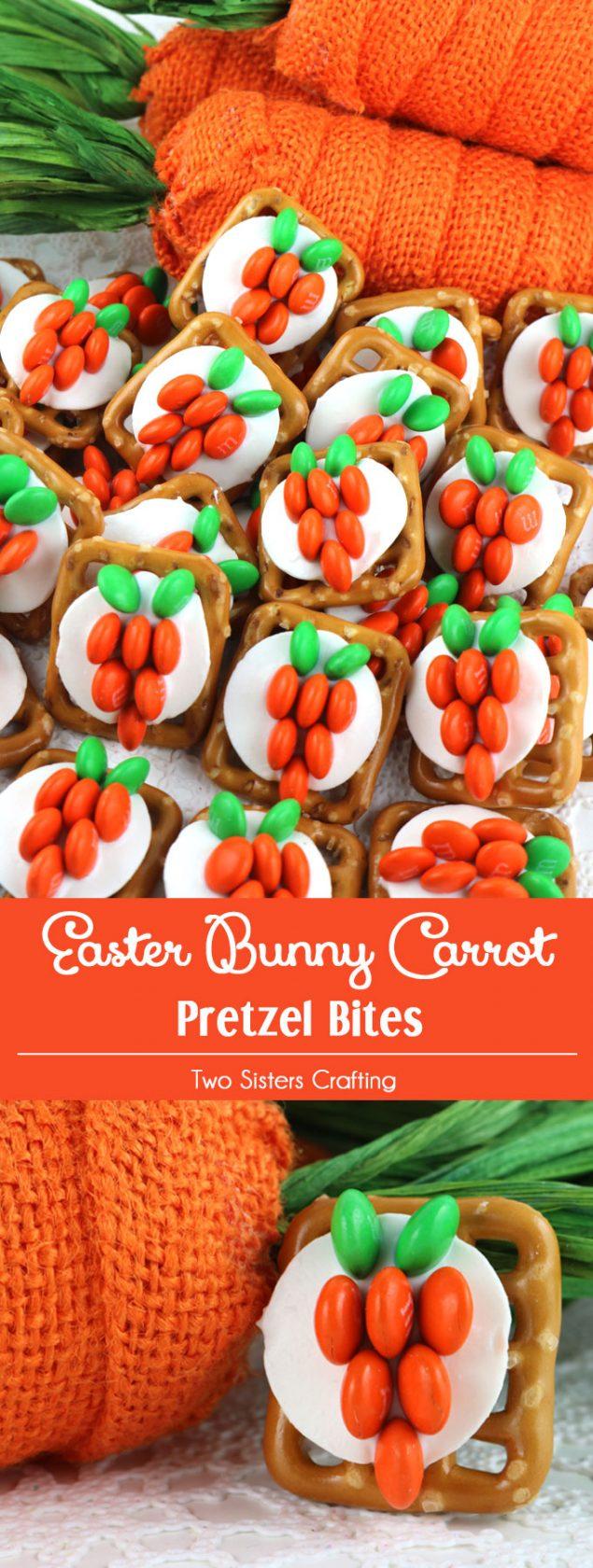 Easter Carrot Pretzel Treats