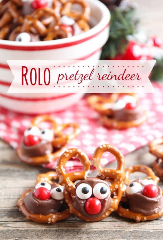 Christmas Rolo Pretzel Reindeer