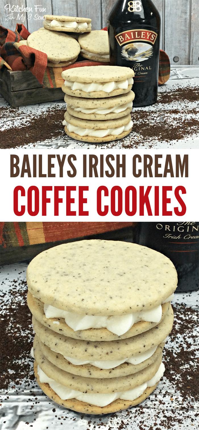 Bailey's Irish Cream Coffee Cookies