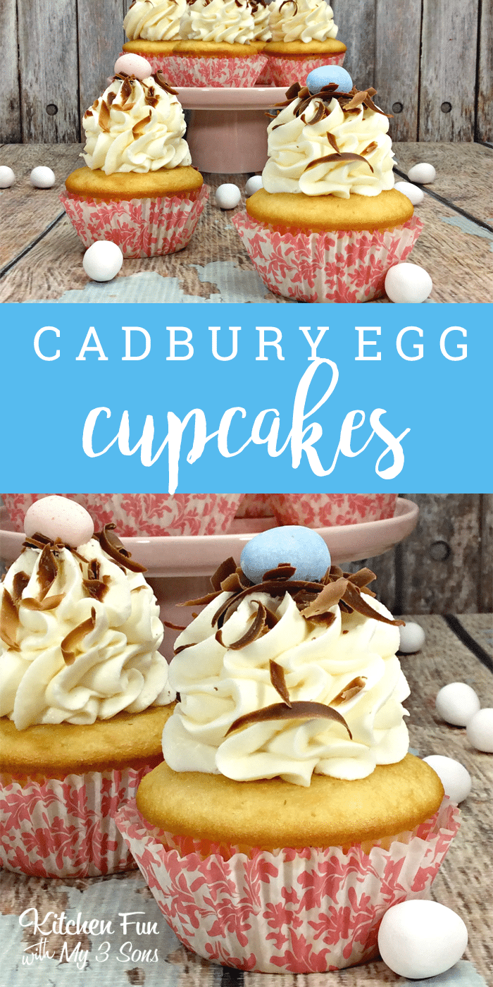 Easter Cadbury Cupcakes Kitchen Fun With My 3 Sons