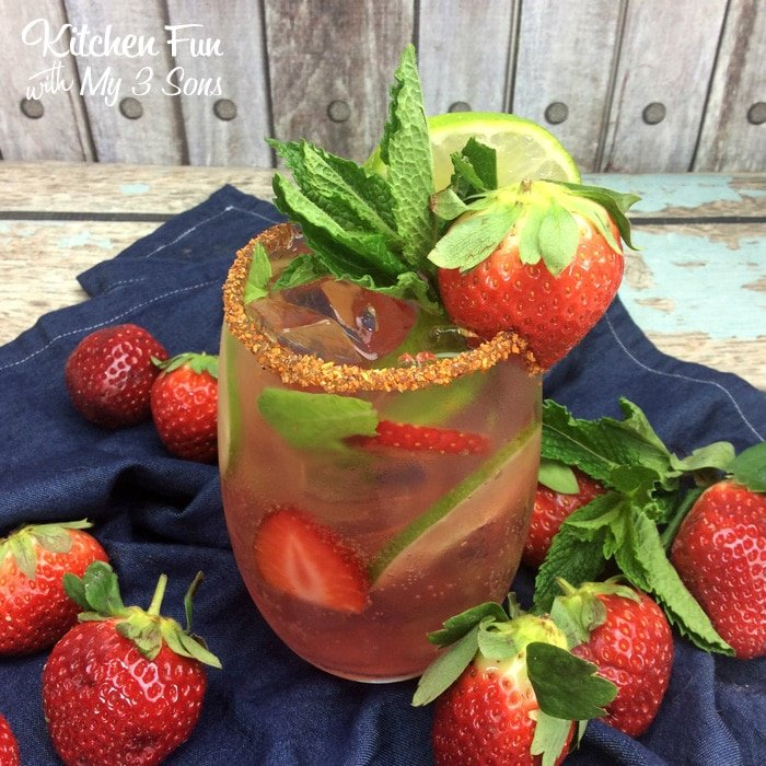 Strawberry Mexican Mojito - Kitchen Fun With My 3 Sons