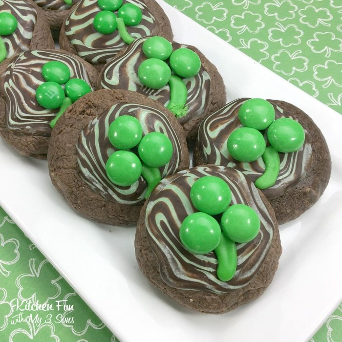 St Patricks Day Mint Cookies