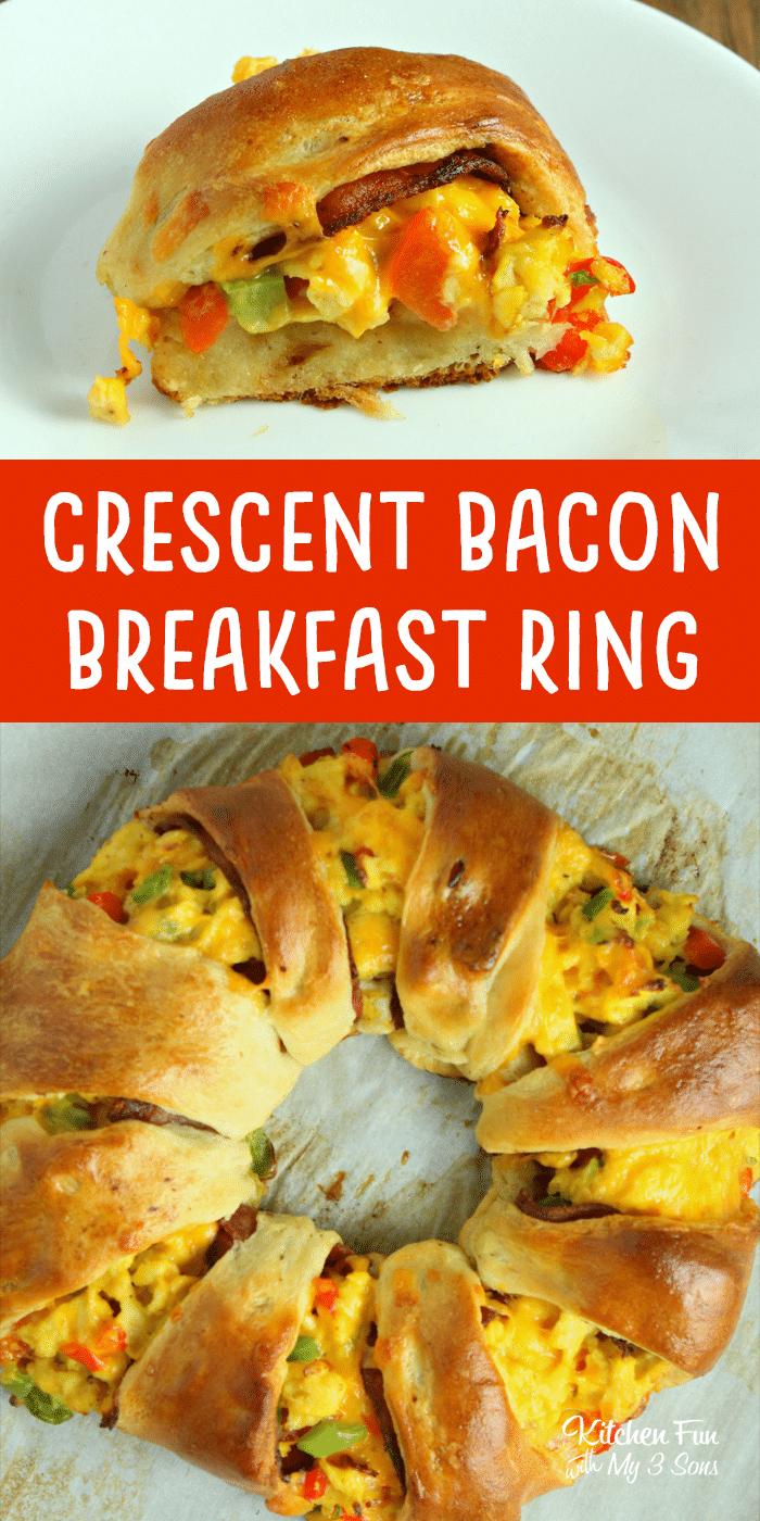 Crescent Bacon Breakfast Ring