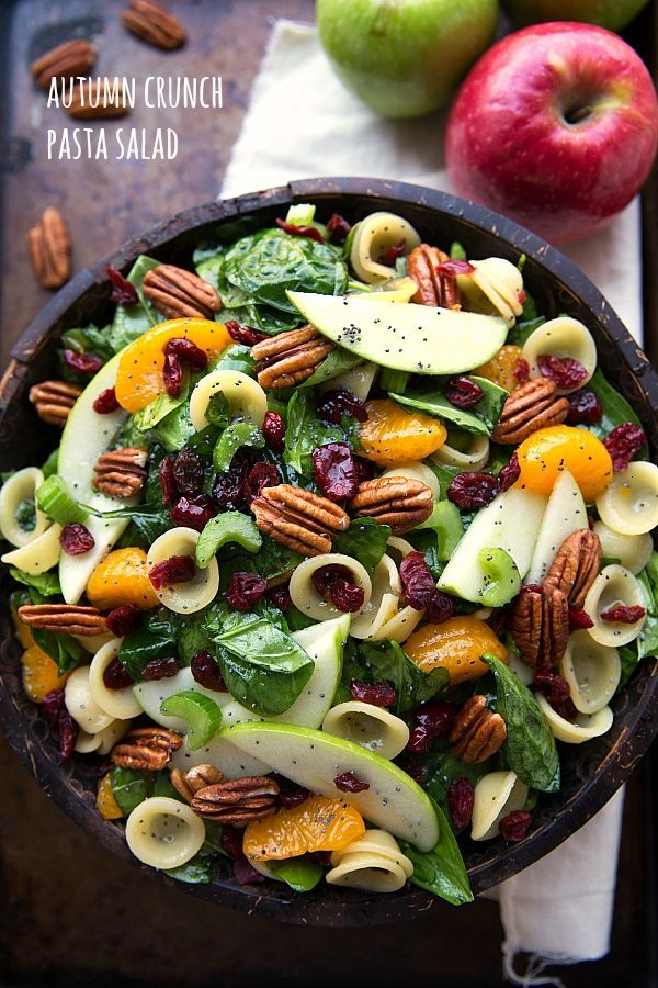 Autumn Crunch Pasta Salad Recipes