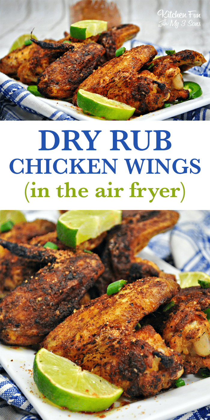 Air Fryer Dry Rub Chicken Wings Kitchen Fun With My 3 Sons