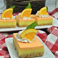 Orange Julius Cheesecake Bars