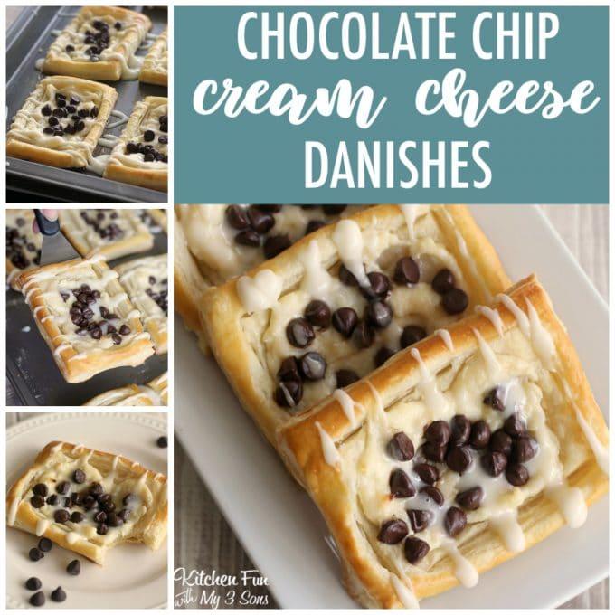 Chocolate Cream Cheese Danishes