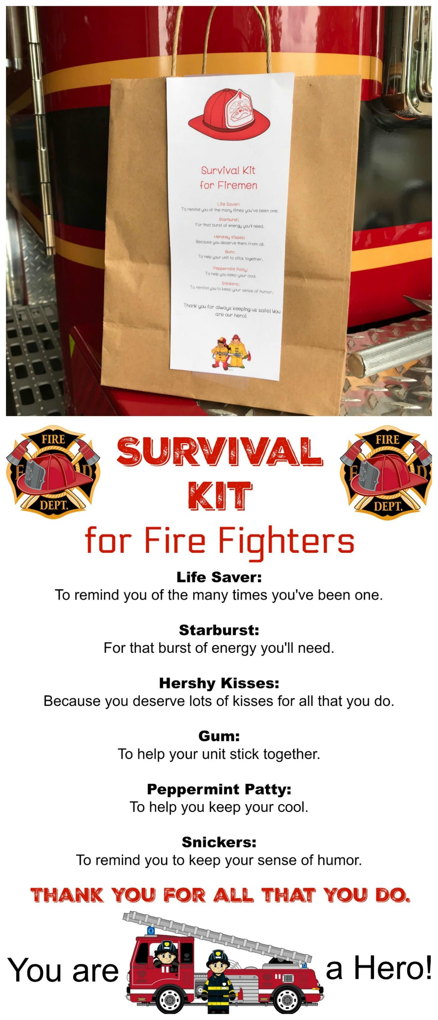 Fire Fighter Survival Kit - Kitchen Fun With My 3 Sons