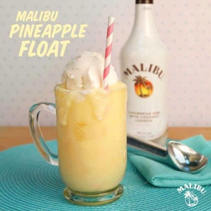 Malibu Pineapple Float