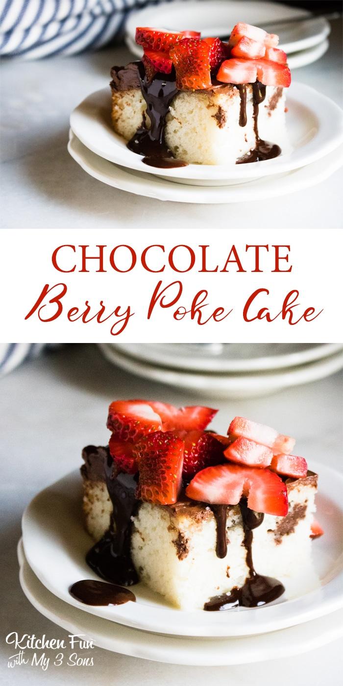 Chocolate Ganache Berry Poke Cake