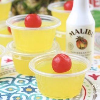 Pina Colada Jello Shots