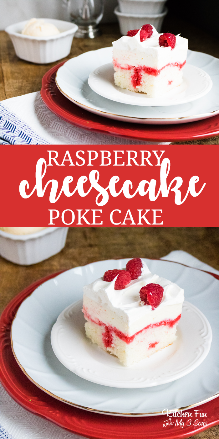 raspberry poke cake raspberry cheesecake poke cake kitchen with my 3 sons 6961