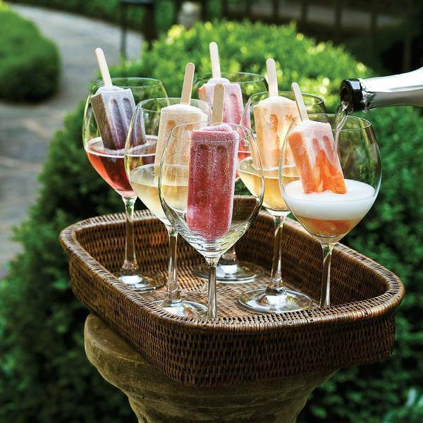 Champagne Popsicle Cocktails - Over 40 of the BEST Summer Cocktails!
