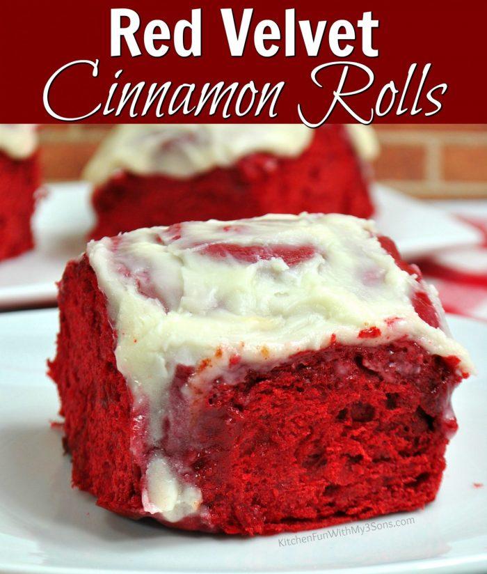 Red Velvet Cinnamon Rolls