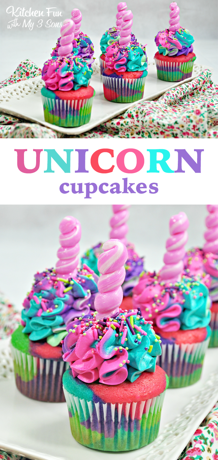 Unicorn Cupcakes Kitchen Fun With My 3 Sons