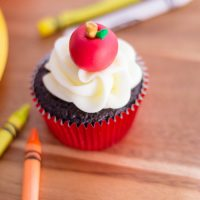 Apple Cupcakes - Back to School
