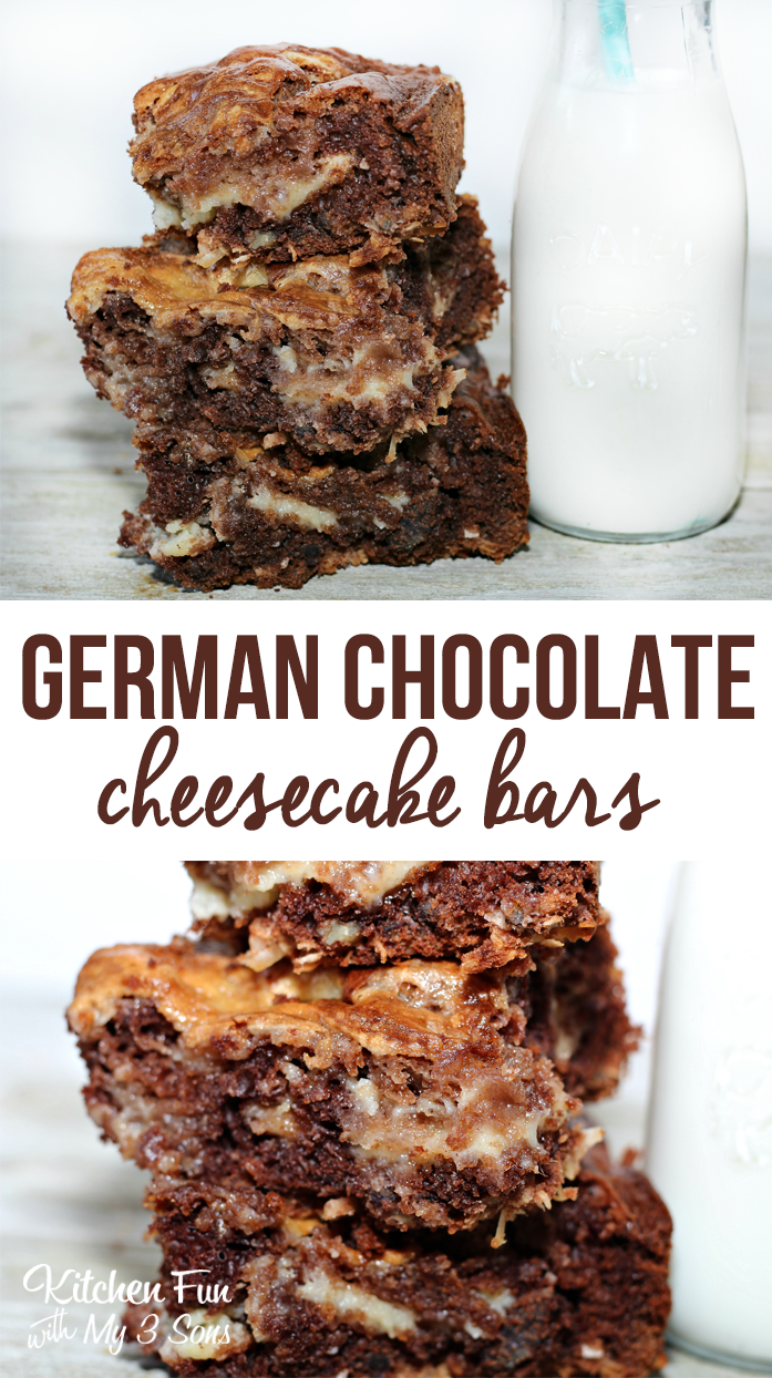EASY German Chocolate Cake Cheese Cake Bars