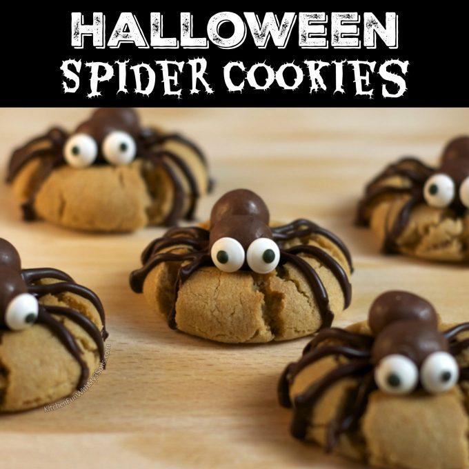 Peanut Butter Spider Cookies - The BEST Halloween Treat ideas!