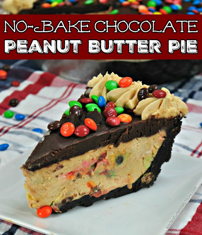 M&M Peanut Butter No Bake Pie