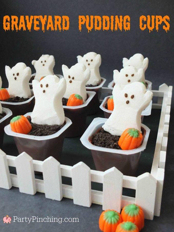 Graveyard Pudding Cups...BEST Halloween Treat ideas!