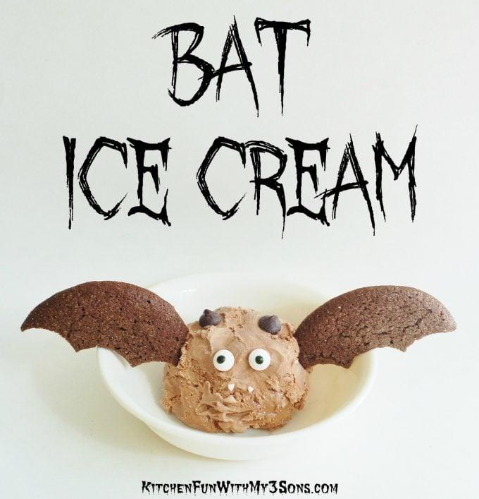 Bat Ice Cream - BEST Halloween Treat ideas!