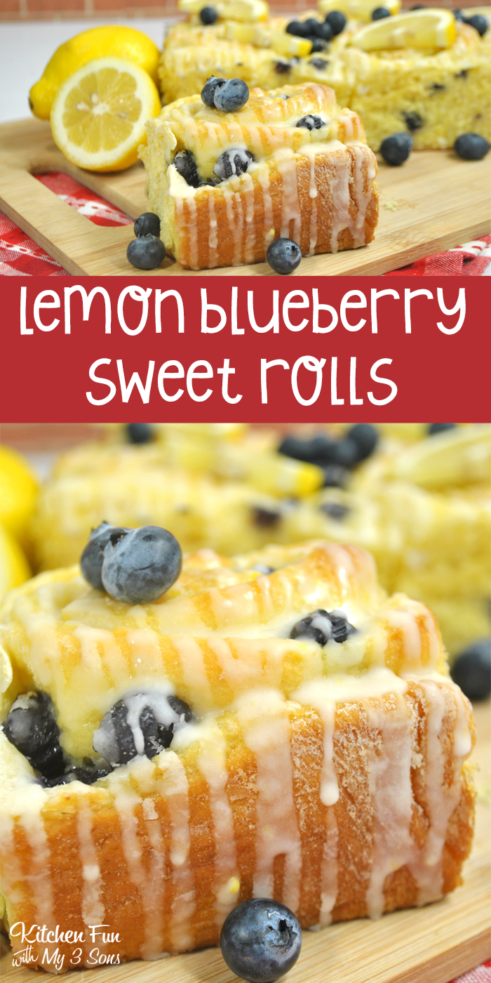 Lemon Blueberry Sweet Rolls Kitchen Fun With My 3 Sons