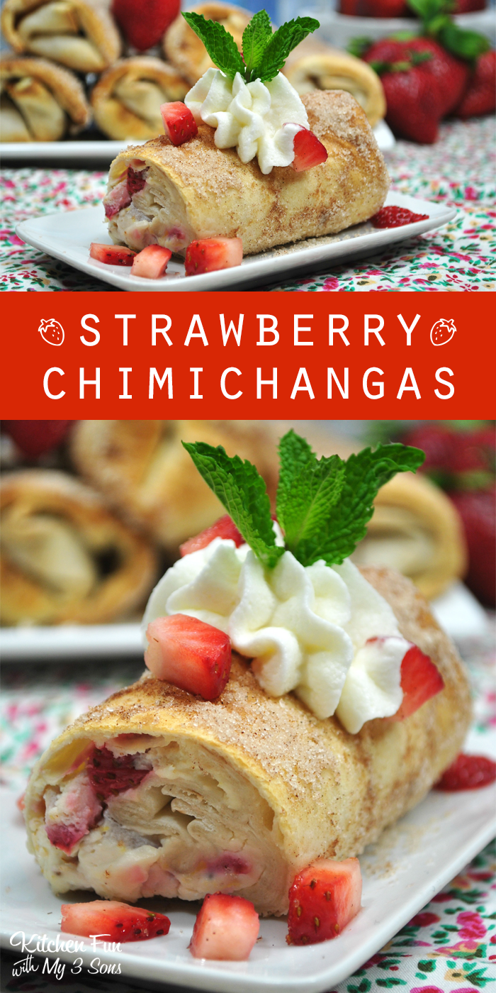 Strawberry Chimichangas