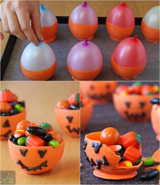 Edible Halloween Candy Bowls - BEST Halloween Treat ideas!