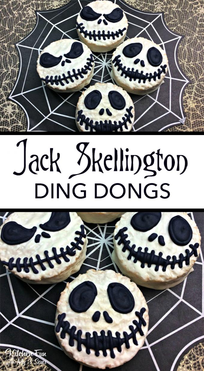 Jack Skellington Ding Dongs - BEST Halloween Treat ideas!