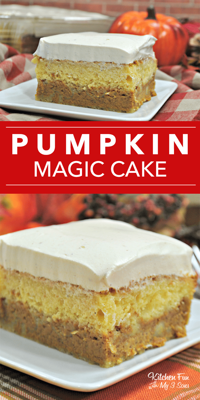 Pumpkin Magic Cake Kitchen Fun With My 3 Sons