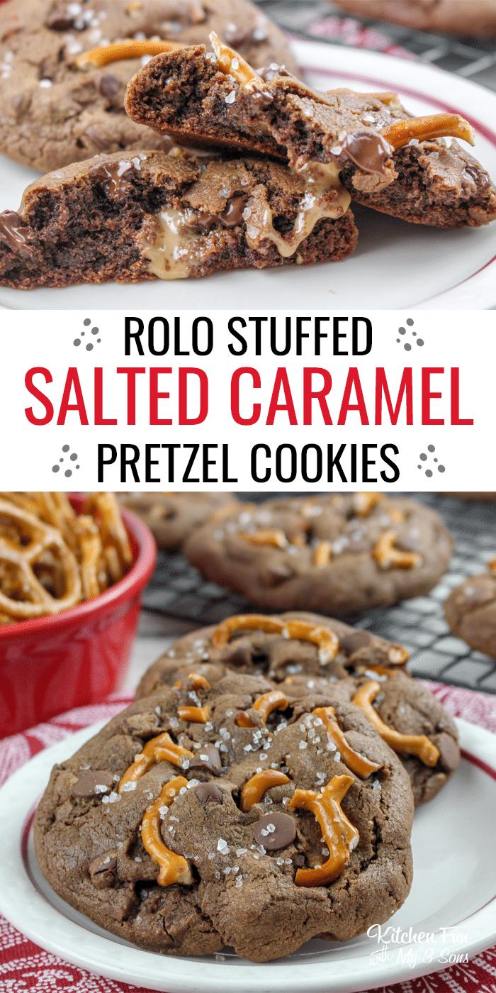 Rolo Stuffed Salted Caramel Cookies