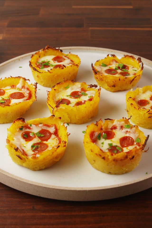 Best Keto Recipes - Low Carb Pizza Bites made with Squash!