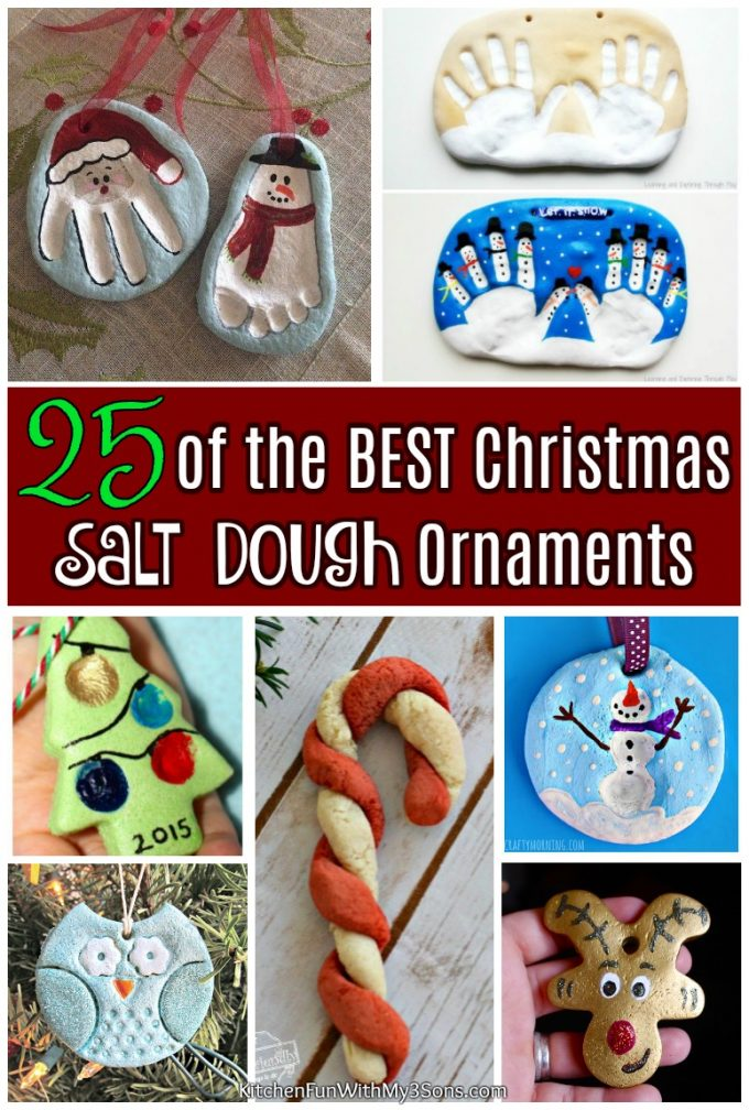 25 Of The Best Christmas Salt Dough Ornaments Kitchen Fun With My