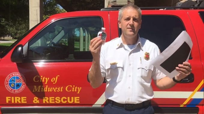 Firefighters warn against Water Bottles in Cars