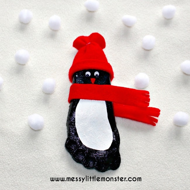 Penguin Footprint Ornaments - Over 30 of the BEST Christmas Salt Dough Ornaments