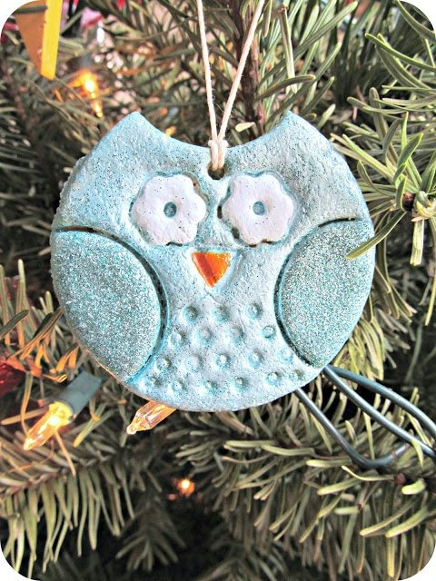 Salt Dough Owl Ornaments - Over 30 of the BEST Christmas Salt Dough Ornaments
