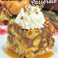 Pumpkin Maple French Toast Casserole