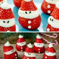 Adorable Little Santa's Stuffed with Cheesecake