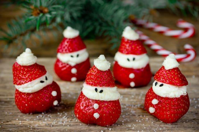 Strawberry Cheesecake Santas for Christmas!