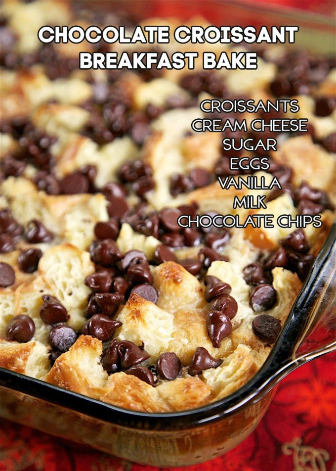 Chocolate Crescent Breakfast Bake